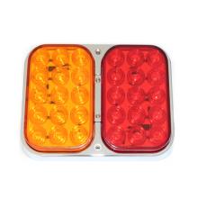 Eclairage arrière combiné E-MARK LED, lampes 100% étanches, chrome base, IP67
