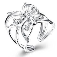 Zircon Butterfly Open Ring Diamond Fashion Woemn Rings