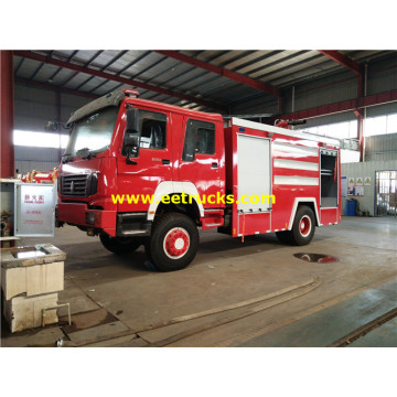 HOWO 2000 Gallons Water Fire Fighting Trucks