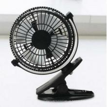 Vento de 2 níveis que acelera o ventilador miniCharging de USB com braçadeira - preto