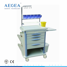 AG-NT004B3 medical supply ABS material hospital anesthesia trolley for sale