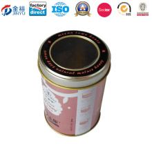 Round Shaped Metal Food Box with Custom Lid