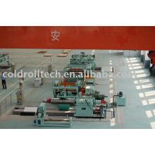 Corte de aço de alta velocidade na linha de comprimento para uso em centro de aço