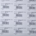 Autocollant auto-adhésif de code barres de papier de prix bon marché de la profession A4 pour le supermarché / étiquette de prix
