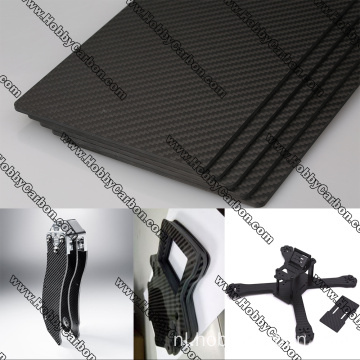 UAV Geweven Full Carbon Glass Sheet