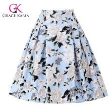 Grace Karin Occident Ladies Vintage Retro Floral Pattern Cotton Skirt 9 Patterns CL008925-8