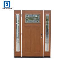 Neue Fiberglas-Eingangstüren von Fangda mit weißem Seitenlicht
