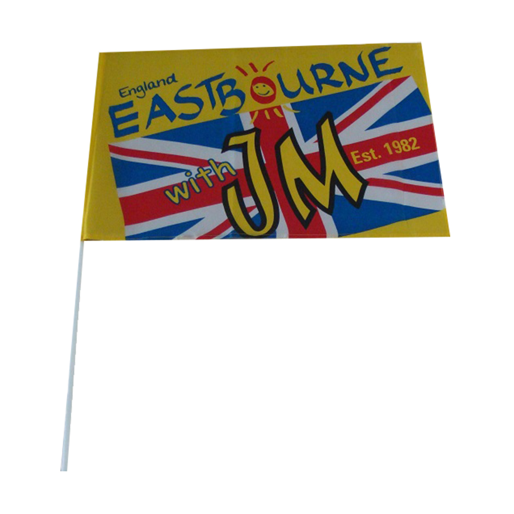 Cheap Hand Held Flag Custom Advertising Banner