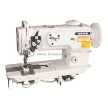 Double Needle Walking Foot Unison Feed Lockstitch Machine with Vertical-Axis Large Hook