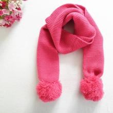 Double Ball Pure Color Woolen Yarn Knitting Scarf for Kids