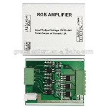 Tom de prata do controlador da luz do diodo emissor de luz do amplificador do RGB do alumínio de DC12-24V