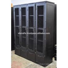 Cabinet lourd industriel en métal rétro