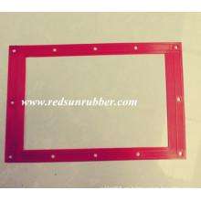 Junta cuadrada plana de goma roja personalizada
