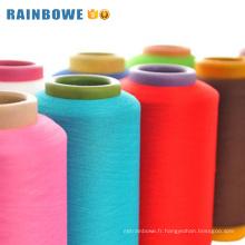Vente chaude acy polyester recouvert d'air spandex pour faire des chaussettes