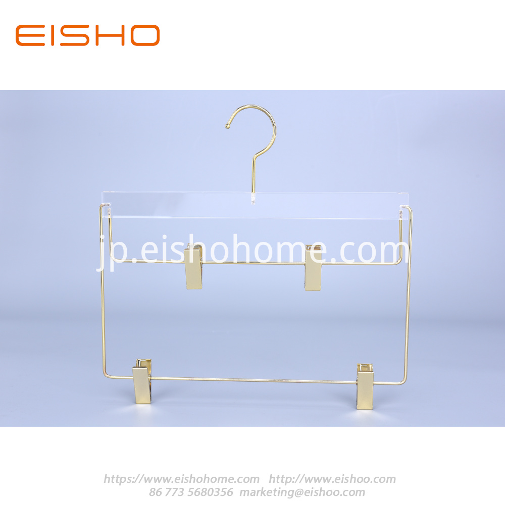 18 Transparent Acrylic Suits Hanger With Bar