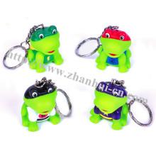 Plastikspielzeug des Superheld-Frosch Keychain