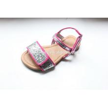 Детская обувь опт милый сандал для девочек с блестками