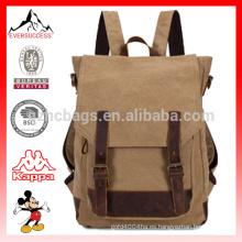 Mochila de lona y cuero mochila de camping mochila mochila Mochilas de lona de moda mochila HCB0041