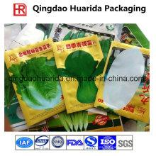 Semillas que embalan las bolsas de plástico secadas de las hojas de las semillas con la impresión colorida