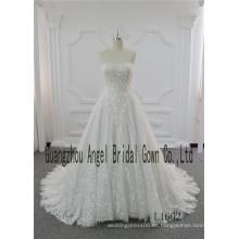 Los vestidos de boda más nuevos del imperio de la longitud del piso de la marca del modelo