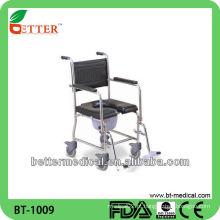 Cadeira de comodo de aço inoxidável
