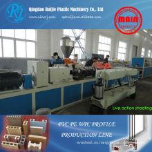 Maquinaria de madera plástica, línea de producción del perfil de WPC, maquinaria de Perfil de PVC