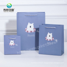 Customized Happy Easter Printing Service Paper Gift Bag for Clothing Custom Design