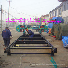 Máquina horizontal grande de la sierra de cinta de madera
