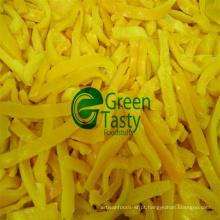 IQF Frozen Fresh Yellow Pepper Slices em Alta Qualidade