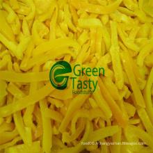 Tranches de poivre jaune fraîches congelées IQF en haute qualité