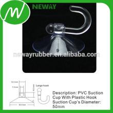 Fuerte taza de succión de vacío de 50 mm con gancho grande