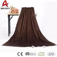 neue Design Decke Quilt Naht Micromink und Lammwolle Sherpa Decke