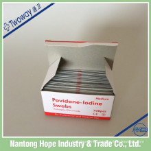 65mm x 30mm medical disposable povidone iodine prep pad