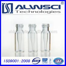 2 ml 9-425 Vaisseau en verre transparent HPLC auto-adhésif avec Micro-insert intégré en verre de 0,2 ml