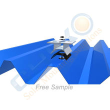 Eco Trapezoidal Metal Roof Clamp Solar Panel Mounting Clamps for Factory Warehouse PV Solar project