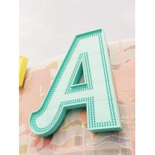 Acier inoxydable LED lettres profilées pour nom avant Boutique plein air