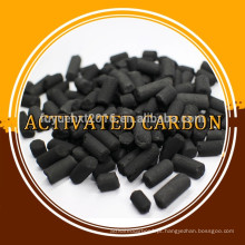 Carbono ativado em coluna de enxofre impregnado para remover mercúrio
