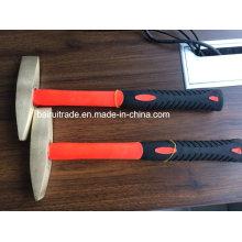 Martillo de soldadura de latón de 1 lb, martillo de escala de latón de seguridad