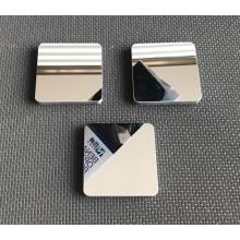 Espelho de maquilhagem de metal com base de mármore
