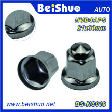 Racing Car Polished Stainless Steel Flanged Lug Nut Cover