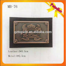 LB76 Custom metal logo jeans label With Screw metal Leather label Patch