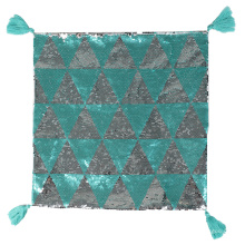 New design polyester luxury mermaid magic reversible sequin tassels cushion