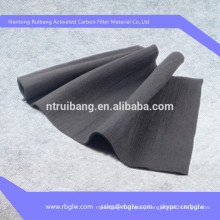high content activated carbon air filter fabric