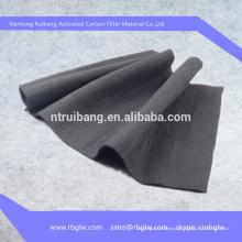 высокое содержание активированный воздушный фильтр углерода ткани