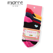 MIORRE Kids' Girl OEM New 2017 Season Cute 3 Pack Different Model Cotton Socks