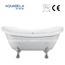 CE / Cupc Aprovado Pure Acrílico Double Ended Clawfoot Bathtub (JL643)