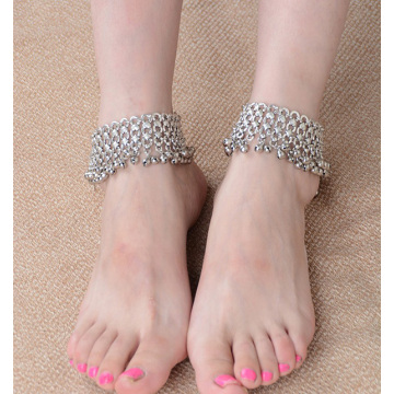Retro Exaggerated Small Bell Tassel Ladies Anklet Foot Ornaments Wholesale