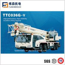 36tons 4 Axle 12 Wheels Hydraulic Truck Crane Ttc036g