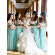Милая Chffion Пол Длина на заказ формальные длинные платья невесты для свадьбы CY033 небесно-голубой платья невесты