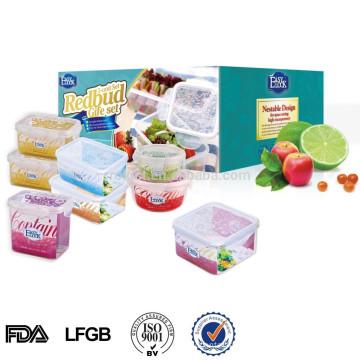 L Microwavable transparent plastic packaging box